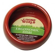 Living World ergonomic Dish Red