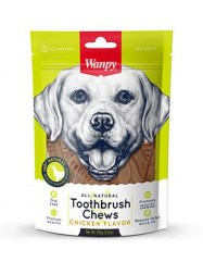 Wanpy-All-Natural-Toothbrush-Chew-Chicken-For-Dog