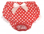 croci hygienic knickers doggy pants pois