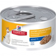 science diet feline mature adult 7+ savory chicken 3 oz
